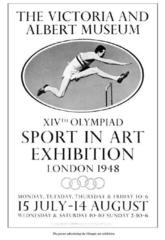 Poster for the Sport in Art Exhibition