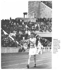 Whitlock arrives at the Olympic Stadium in the 1936 Berlin Games