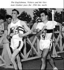 Vickers in 20km walk, 1960 Rome Games