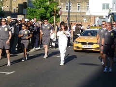 The Olympic Torch Relay in Deptford, 23rd July 2012