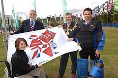 Olympic flag handover at Cornhill Gardens