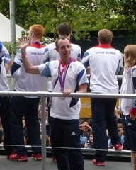 Shaun McKeown during the Parade through London, 10th September 2012